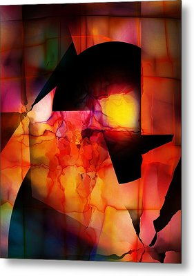 Metal Print featuring the digital art Abstract 012615 by David Lane