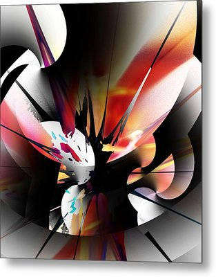 Metal Print featuring the digital art Abstract 082214 by David Lane