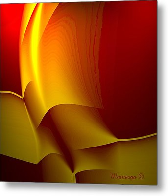 Abstract 2-0-13 Metal Print by Ines Garay-Colomba