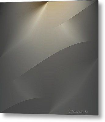 Abstract 2-0-13-s Metal Print by Ines Garay-Colomba