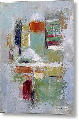 Abstract 2015 02 Metal Print by Becky Kim