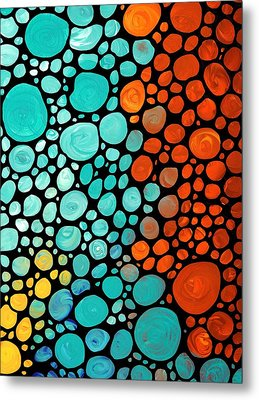 Mosaic Art - Abstract 3 - By Sharon Cummings Metal Print by Sharon Cummings
