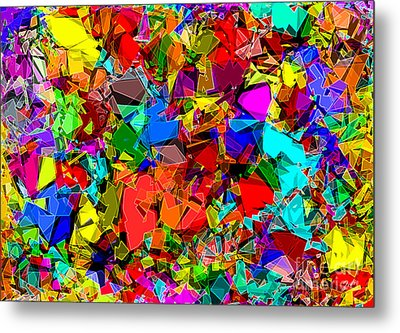 Metal Print featuring the digital art Astratto - Abstract 50 by ZeDi