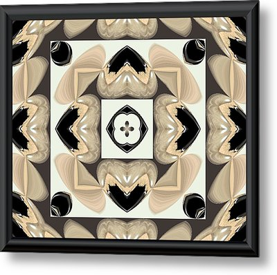 Abstract A029 Metal Print by Maria Urso