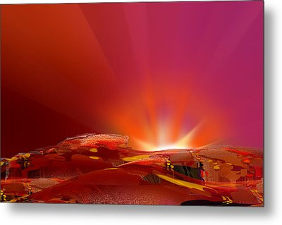 Abstract - Alien Sunrise Metal Print