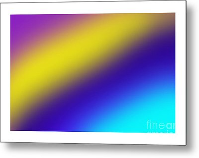 Abstract And Polychromatic Composition  Metal Print by Enrique Cardenas-elorduy
