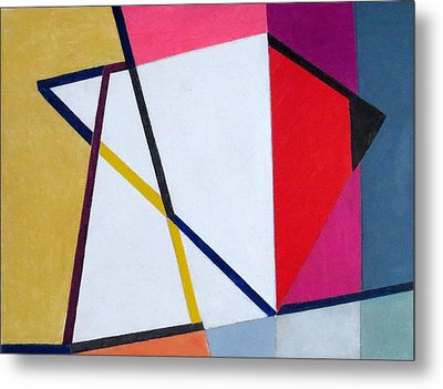 Abstract Angles V Metal Print by Diane Fine