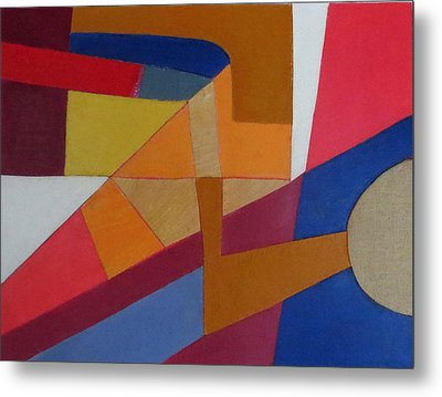 Abstract Angles Viii Metal Print by Diane Fine