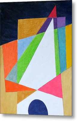 Abstract Angles Xi Metal Print by Diane Fine