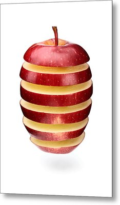 Abstract Apple Slices Metal Print by Johan Swanepoel