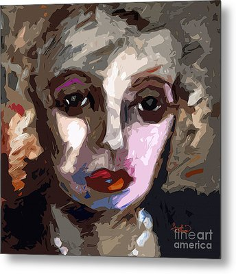 Abstract Art Bette Davis Eyes  Metal Print by Ginette Callaway