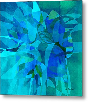 abstract - art- Blue for You Metal Print by Ann Powell