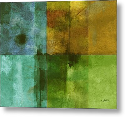 abstract - art- Color Block Rectangle  Metal Print by Ann Powell