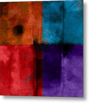 abstract - art- Color Block Square Metal Print by Ann Powell
