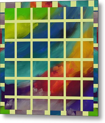 abstract - art- Color Study One Metal Print by Ann Powell