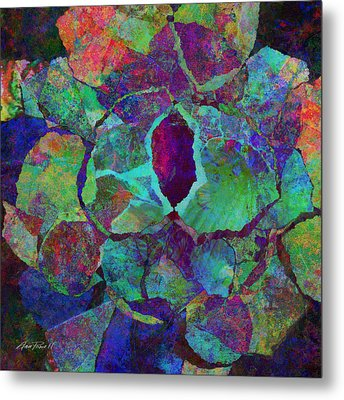 Abstract Art Colorful Collage Metal Print by Ann Powell