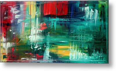 Abstract Art Colorful Original Painting Bold And Beautiful By Madart Metal Print by Megan Duncanson
