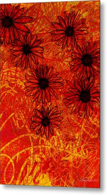 abstract - art- flowers - Daisies  Metal Print by Ann Powell