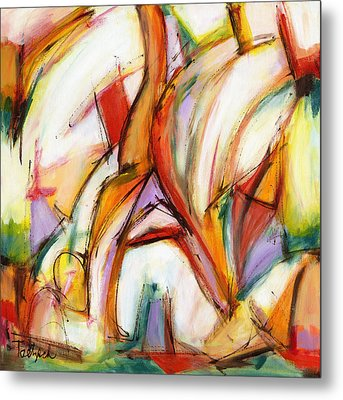 Abstract Art Forty-five Metal Print by Lynne Taetzsch