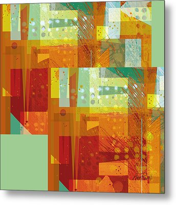 abstract - art- Intersect Orange   Metal Print by Ann Powell