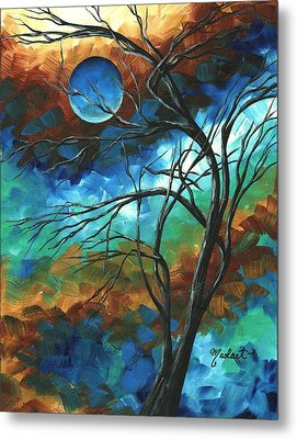 Abstract Art Original Colorful Painting Mystery Of The Moon By Madart Metal Print by Megan Duncanson