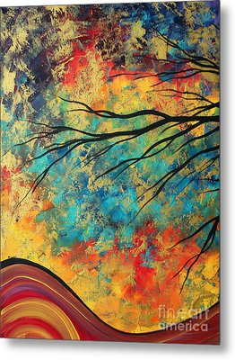 Abstract Art Original Landscape Painting Go Forth I By Madart Studios Metal Print by Megan Duncanson