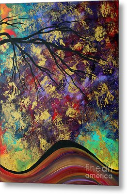 Abstract Art Original Landscape Painting Go Forth IIi By Madart Studios Metal Print by Megan Duncanson