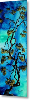 Abstract Art Original Landscape Painting Life Is A Maze By Madart Metal Print by Megan Duncanson