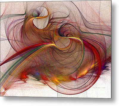 Abstract Art Print Inflammable Matter Metal Print by Karin Kuhlmann