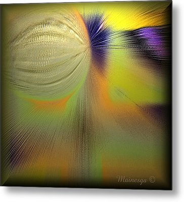 Abstract-b-e-g Metal Print by Ines Garay-Colomba