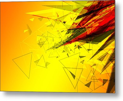 Abstract Background Design  Metal Print by Ratchapon Yanyongdecha