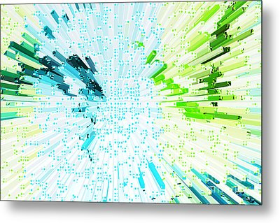 Abstract - Be Happy Metal Print by Natalie Kinnear