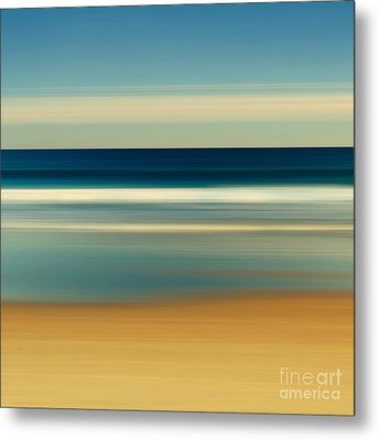 Abstract Beach Day Metal Print by Katherine Gendreau