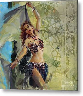 Abstract Belly Dancer 1 Metal Print by Mahnoor Shah