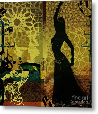 Abstract Belly Dancer 11 Metal Print by Mahnoor Shah