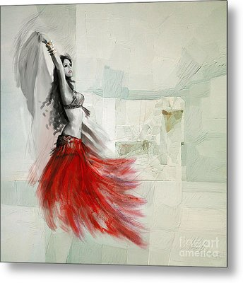 Abstract Belly Dancer 18 Metal Print by Mahnoor Shah