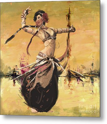 Abstract Belly Dancer 2 Metal Print by Mahnoor Shah