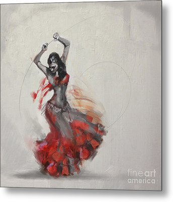 Abstract Belly Dancer 21 Metal Print by Mahnoor Shah