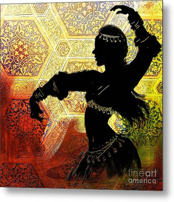 Abstract Belly Dancer 3 Metal Print by Mahnoor Shah