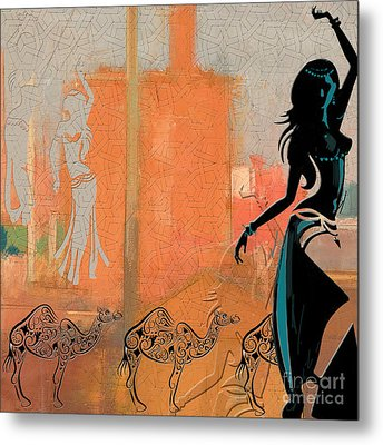 Abstract Belly Dancer 4 Metal Print by Mahnoor Shah