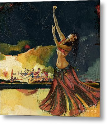 Abstract Belly Dancer 5 Metal Print by Mahnoor Shah