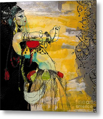 Abstract Belly Dancer 6 Metal Print by Mahnoor Shah