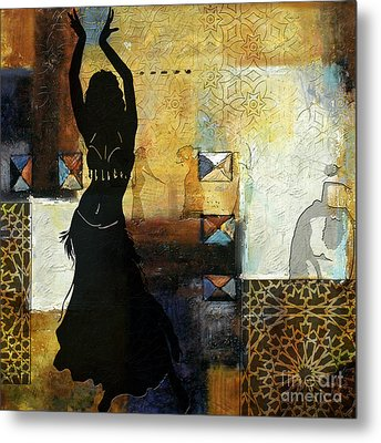 Abstract Belly Dancer 7 Metal Print by Mahnoor Shah