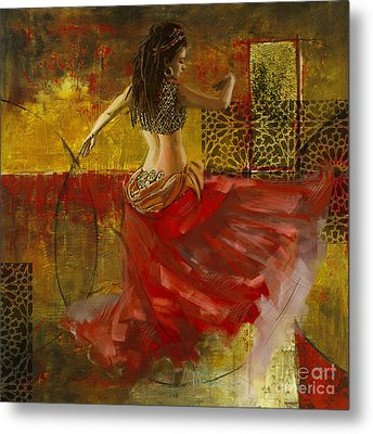 Abstract Belly Dancer 9 Metal Print by Mahnoor Shah