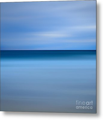 Abstract Blue Beach Metal Print by Katherine Gendreau
