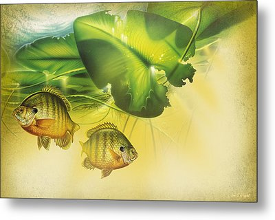 Abstract Blugill Metal Print