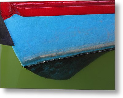 Abstract Boat Bow Metal Print by Juergen Roth