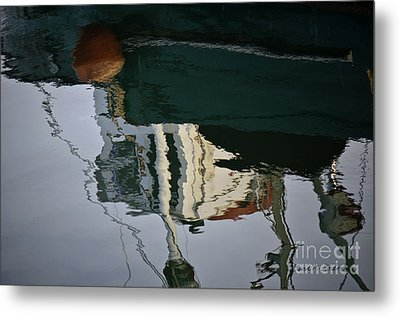 Abstract Boat Reflection II Metal Print by Dave Gordon