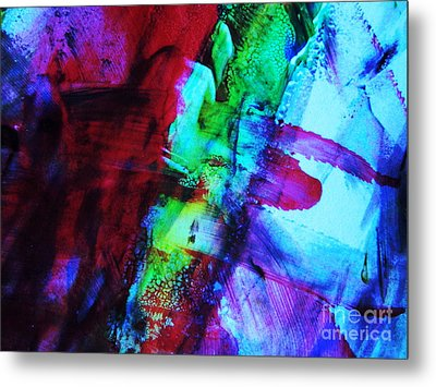 Abstract Bold Colors Metal Print by Andrea Anderegg