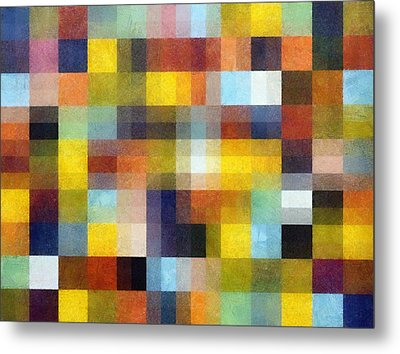 Abstract Boxes With Layers Metal Print by Michelle Calkins